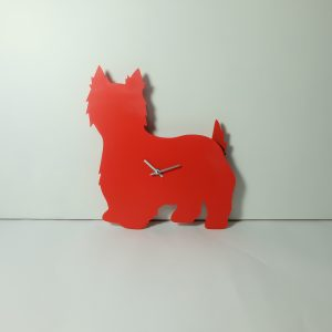 The Labrador Co.-Red West Highland Terrier Clock