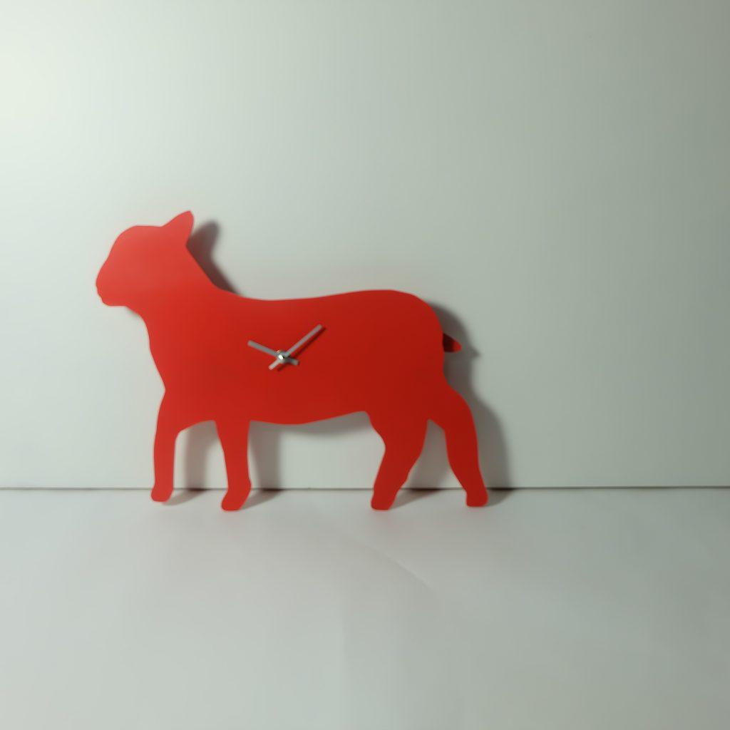 The Labrador Co.-Red Sheep Clock with wagging tail - last one!