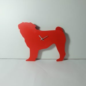 The Labrador Co.-Red Pug Clock with wagging tail - last one!