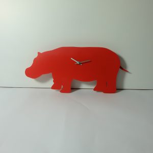 The Labrador Co.-Red Hippo Clock with wagging tail - last one!