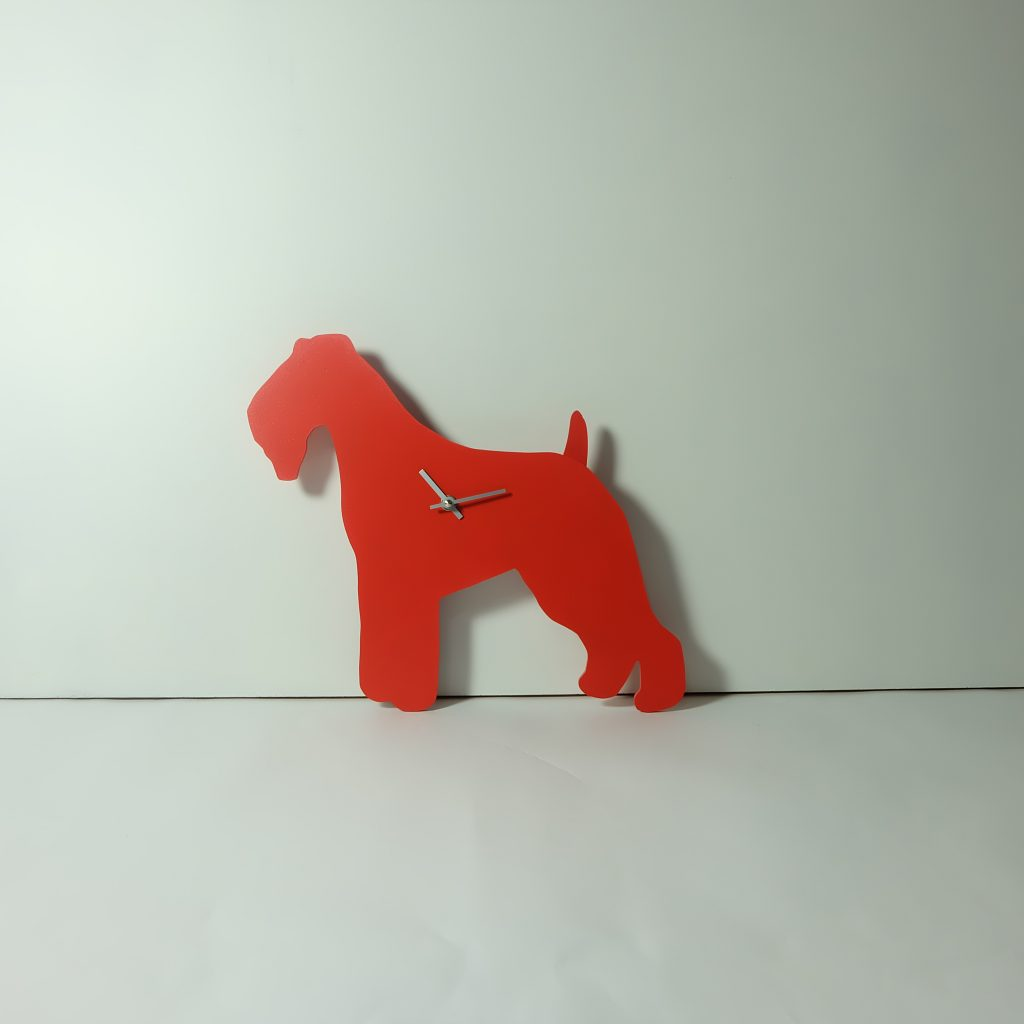 The Labrador Co.-Red Fox Terrier Clock with wagging tail - last one!