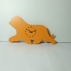 The Labrador Co.-Orange Bearded Collie Clock with wagging tail - last one!