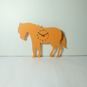 The Labrador Co.-Orange Pony Clock with wagging tail - last one!