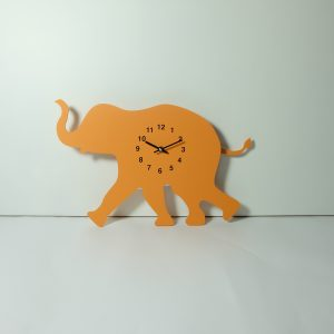The Labrador Co.-Orange Elephant Clock with wagging tail - last one!