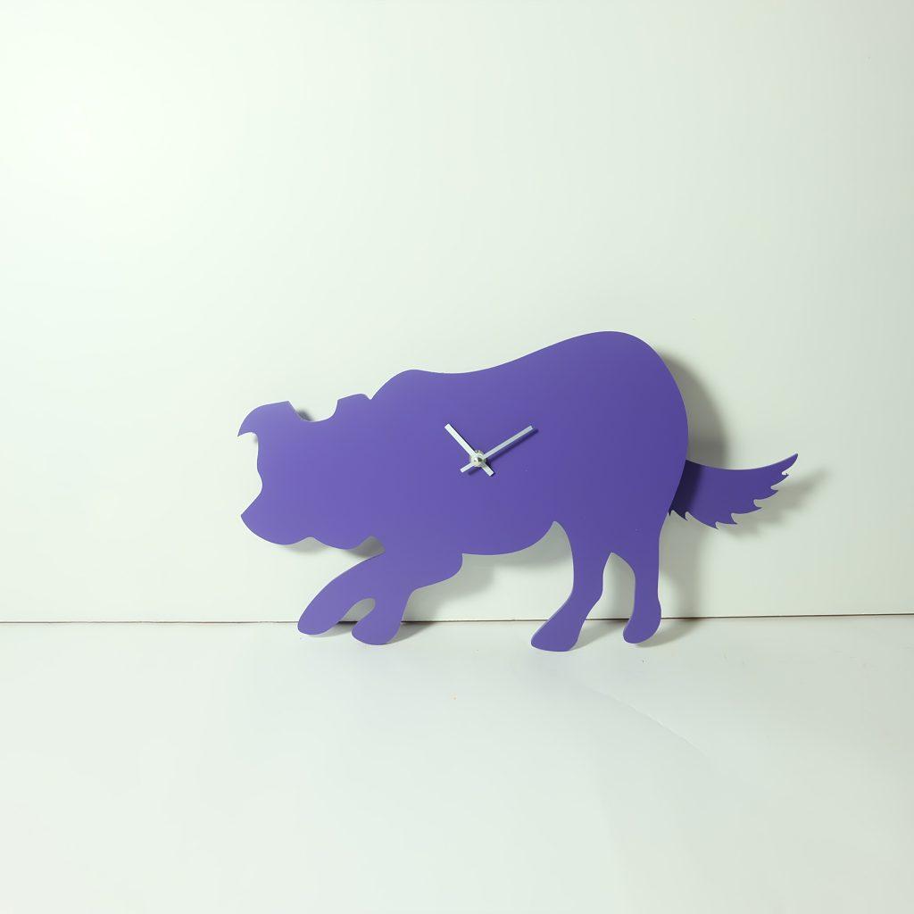 The Labrador Co.-Purple Border Collie Clock - Last One!