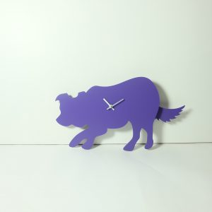 The Labrador Co.-Purple Border Collie Clock - Last One!