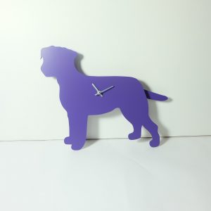 The Labrador Co.-Purple Border Terrier Clock with wagging tail - last one!