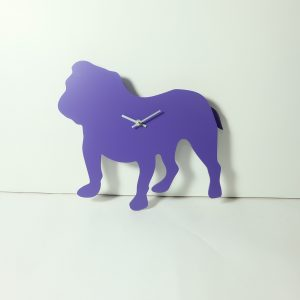The Labrador Co.-Purple Bulldog Clock with wagging tail - last one!