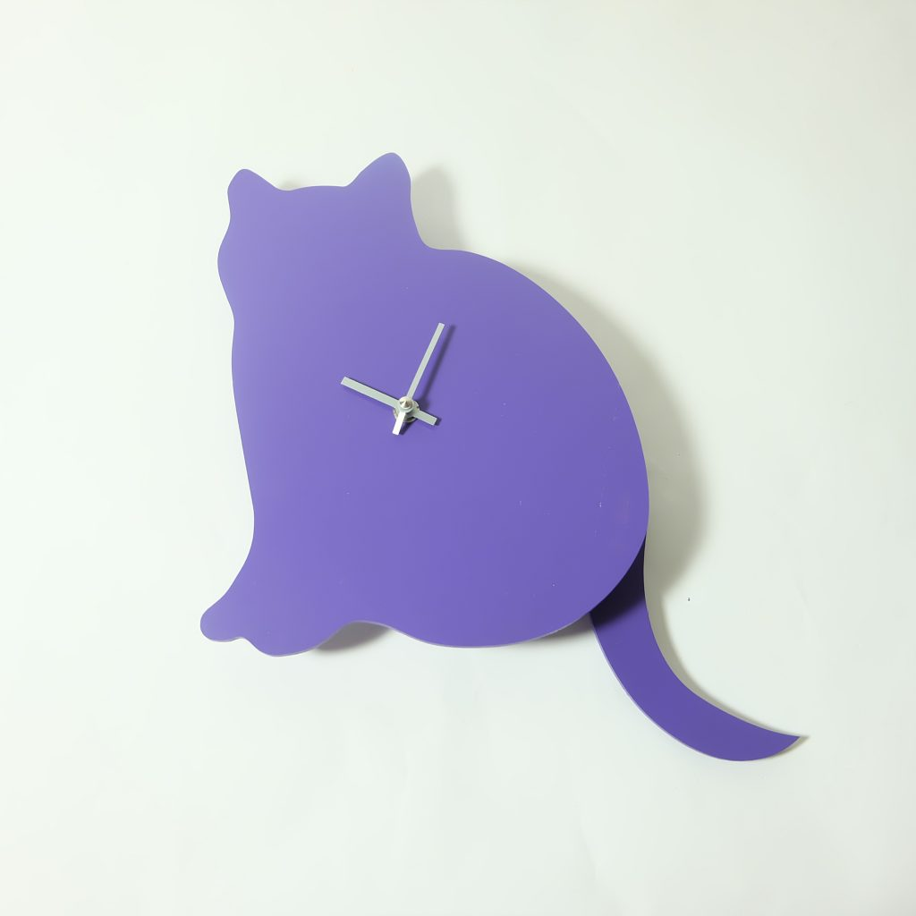 The Labrador Co.-Purple cat clock with wagging tail - last one!