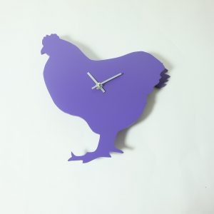 The Labrador Co.-Purple Chicken Clock with wagging tail - last one! 1
