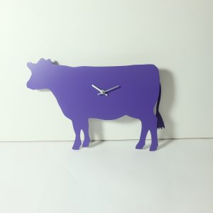 The Labrador Co.-Purple Cow Clock with Wagging tail - last one!