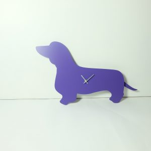 The Labrador Co.-Purple Dachshund Clock with Wagging Tail - Last one!