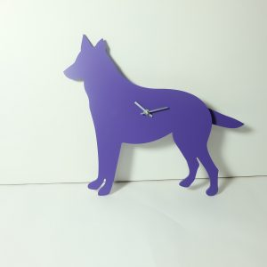 The Labrador Co.-Purple German Shepherd/ Alsatian clock with wagging tail - last one!