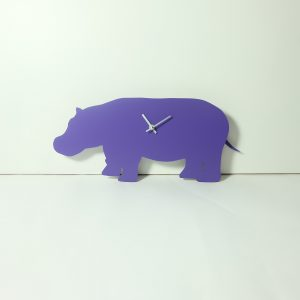The Labrador Co.-Purple Hippo Clock with wagging tail - last one!