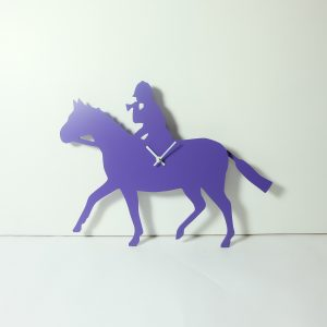 The Labrador Co.-Purple Huntsman Hunting Clock with wagging tail - last one!
