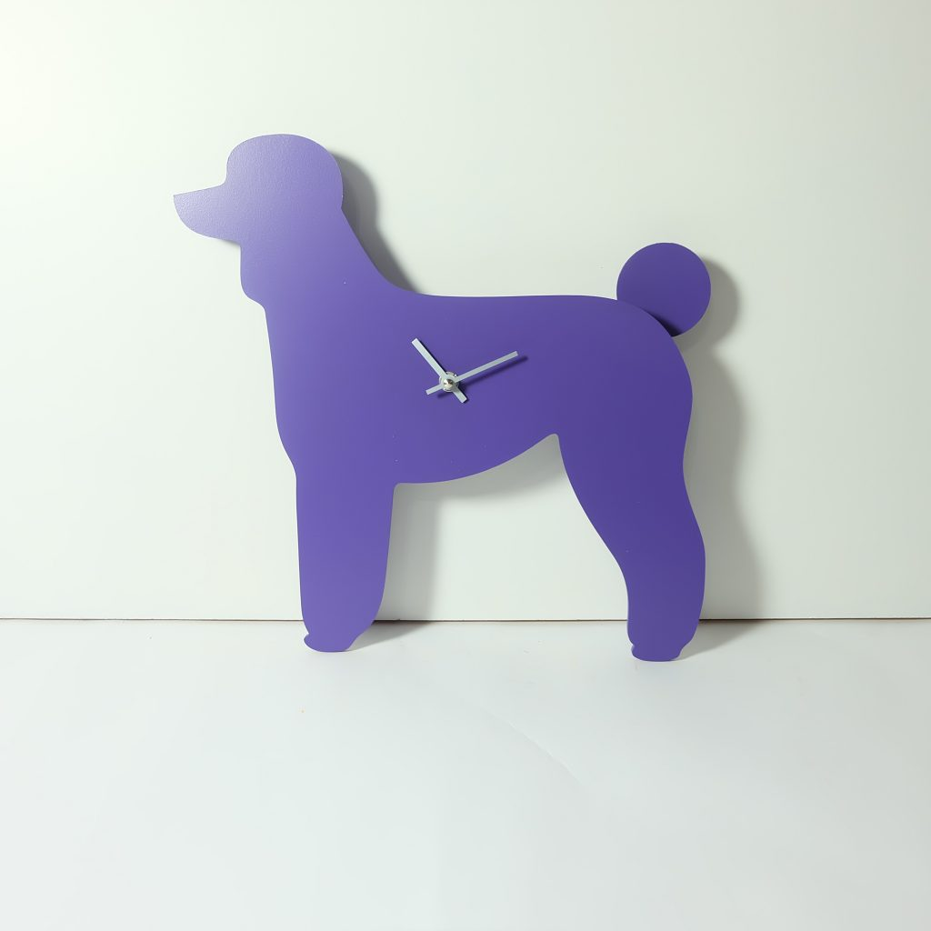 The Labrador Co.-Purple Poodle Clock with wagging tail - last one!