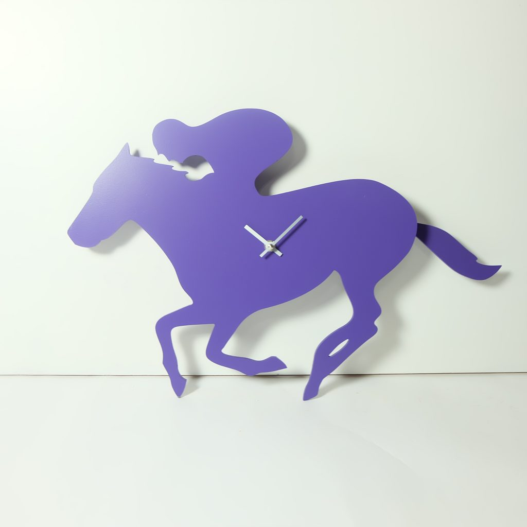 The Labrador Co.-Purple Racehorse Clock with wagging tail - last one! 1
