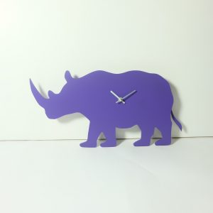 The Labrador Co.-Purple Rhino Clock with wagging tail - last one!