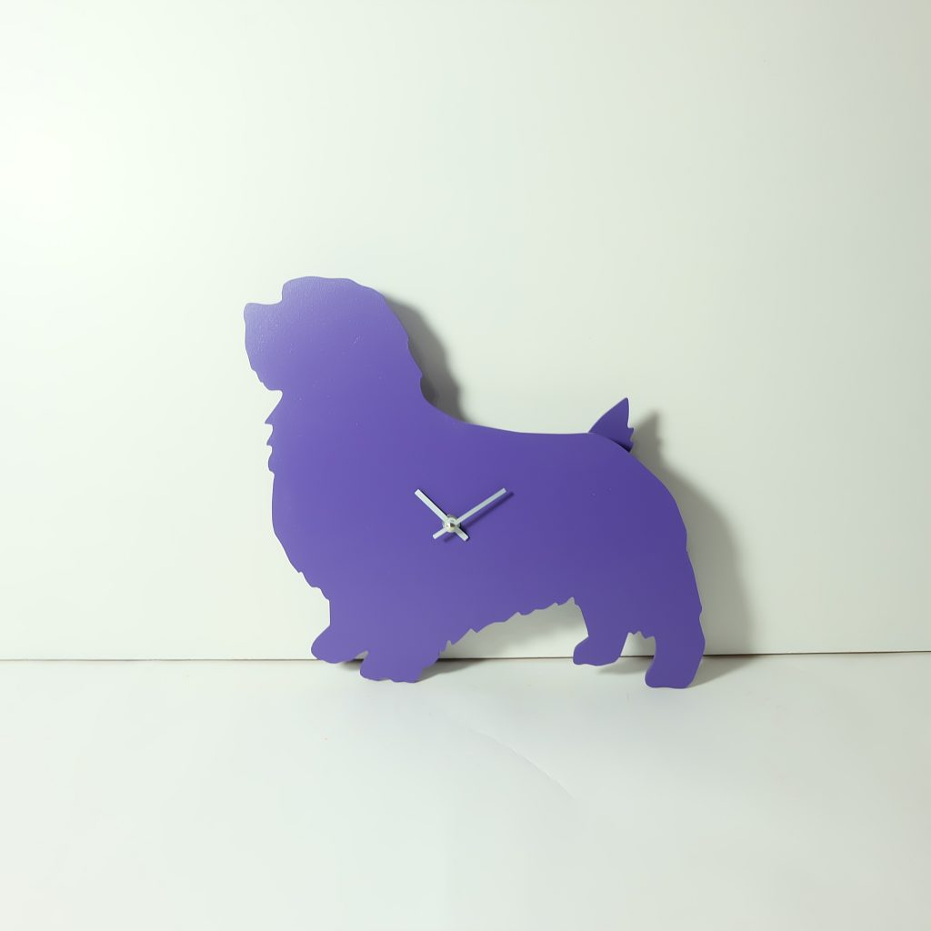 The Labrador Co.-Purple Terrier Clock with wagging tail - last one!
