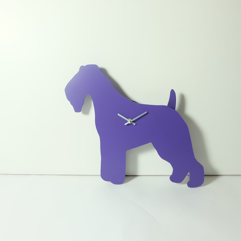 The Labrador Co.-Purple Terrier Clock with wagging tail - last one! 1