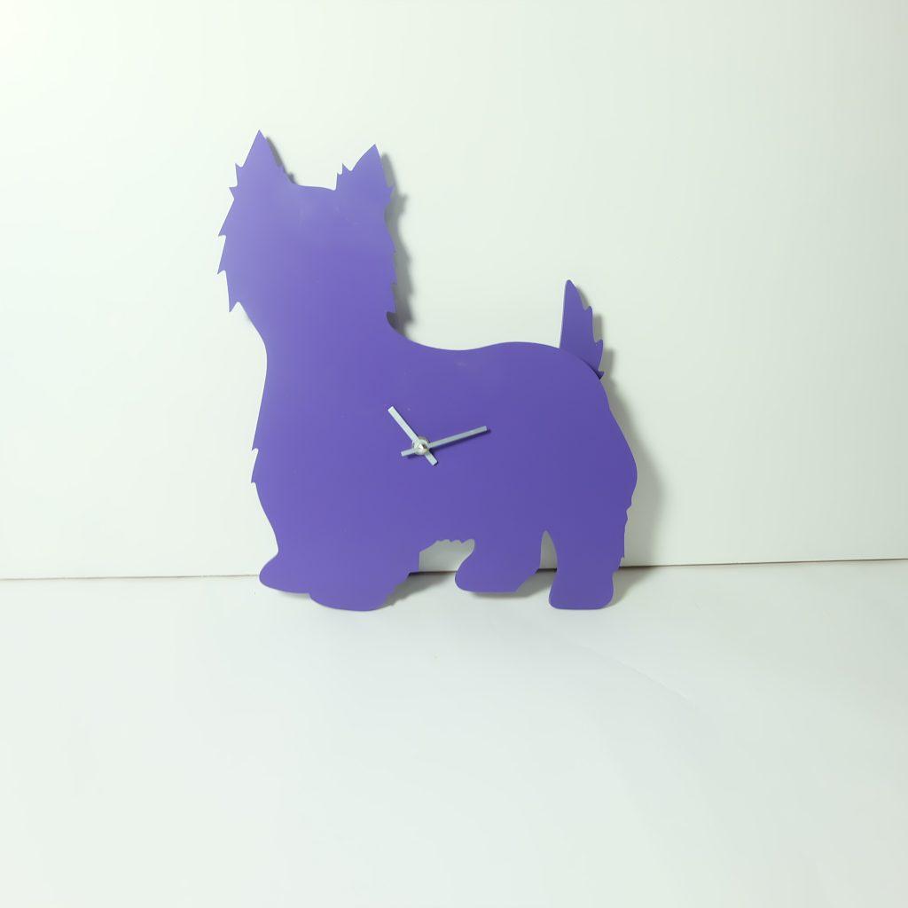 The Labrador Co.-Purple Westie/West Highland White Terrier Clock - last one!