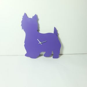 The Labrador Co.-Purple Westie/West Highland White Terrier Clock - last one!