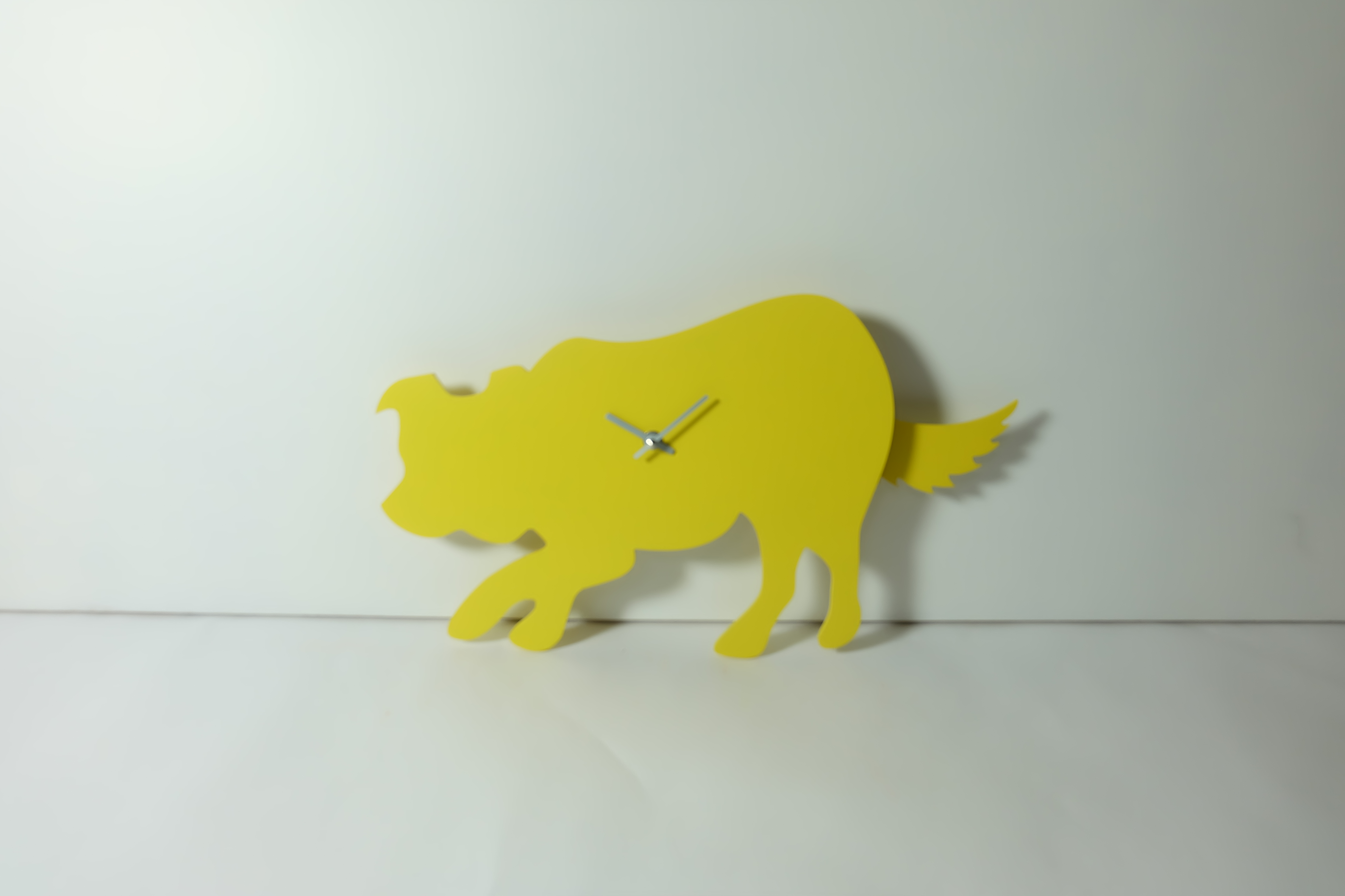 Yellow Border Collie Clock With Wagging Tail Last One