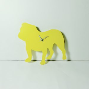 The Labrador Co.-Yellow Bulldog Wagging Tail Clock - Last one!