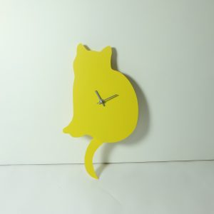 The Labrador Co.-Yellow Cat Clock with wagging tail - last one!