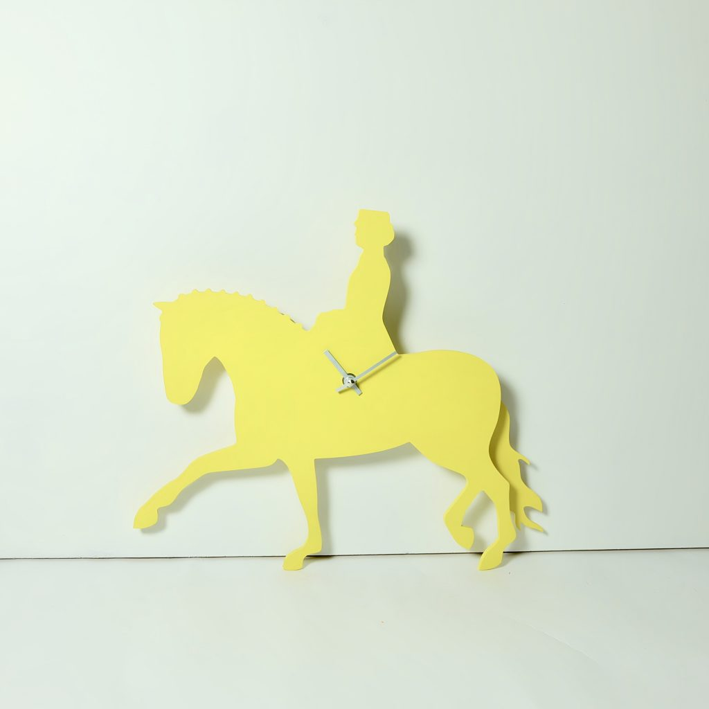 The Labrador Co.-Yellow dressage clock with wagging tail - last one!