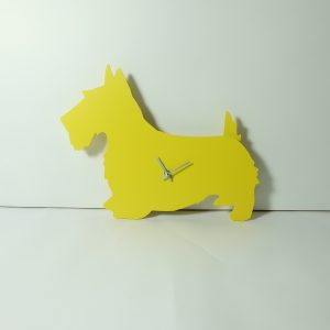 The Labrador Co.-Yellow Scottie Dog Clock with wagging tail - last one!