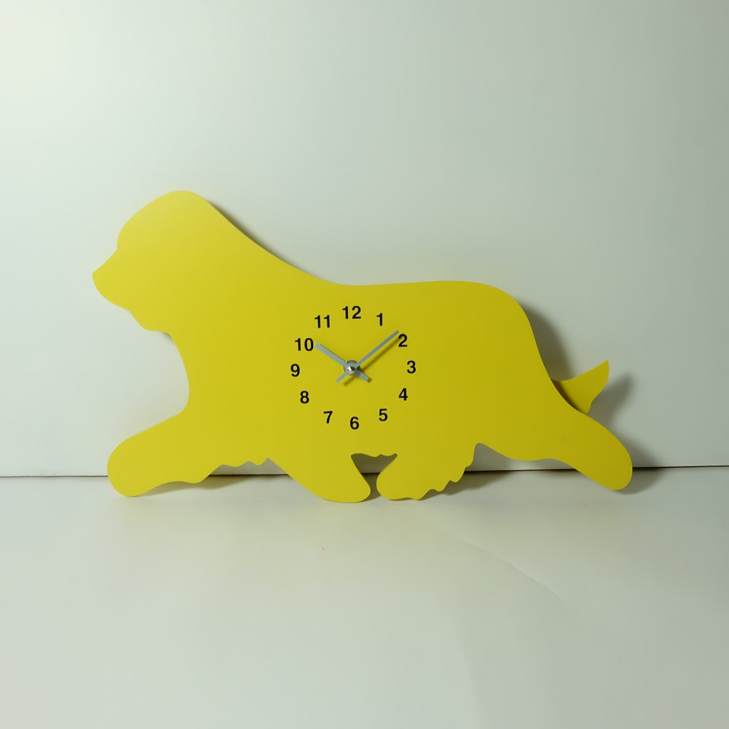 The Labrador Co.-Yellow terrier clock with wagging tail - last one!