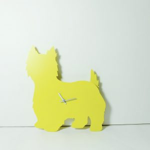 The Labrador Co.-Yellow Westie West Highland Terrier Clock with wagging tail - last one!
