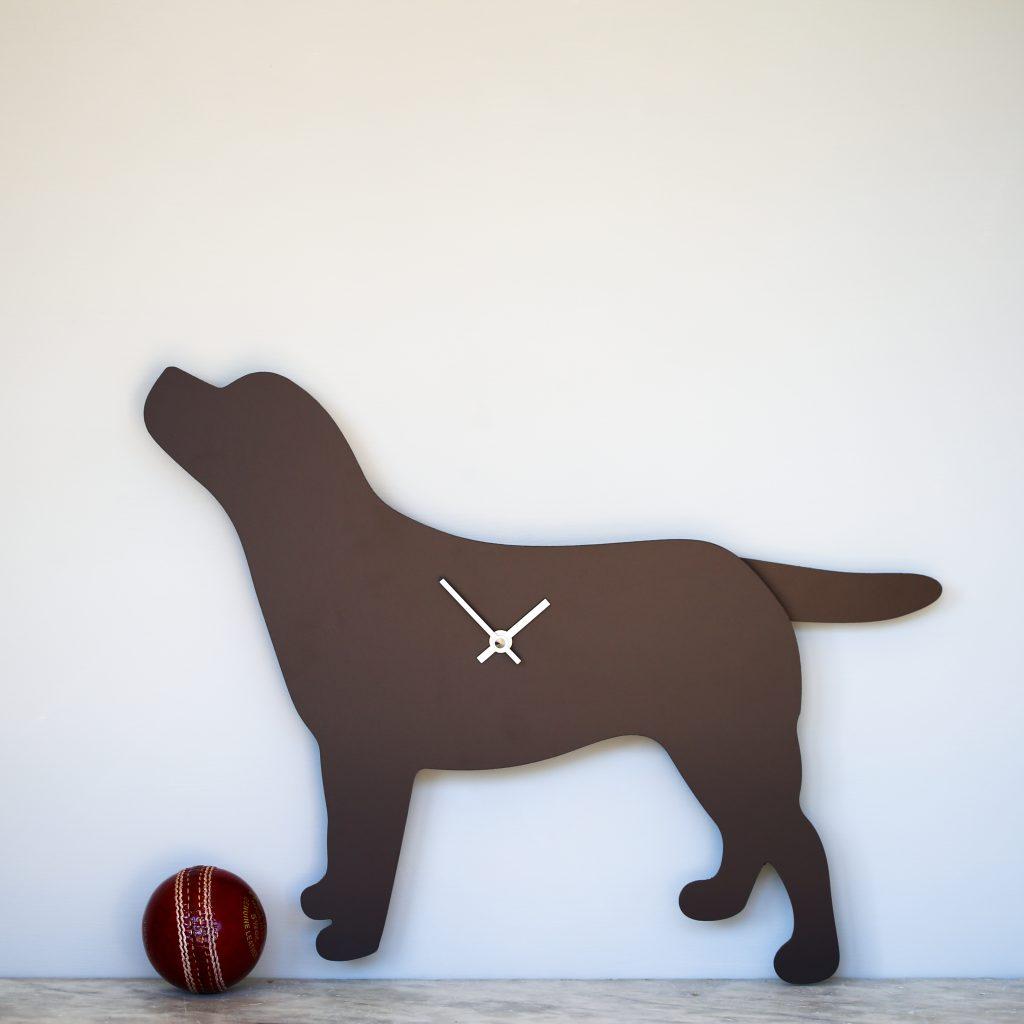 The Labrador Co.-Labrador Clock - Brown 2