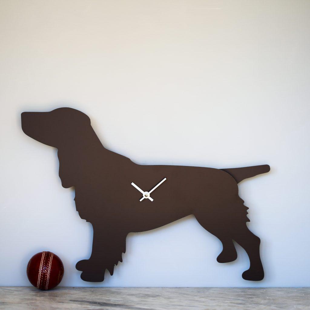 The Labrador Co.-Spaniel Clock - Brown 2