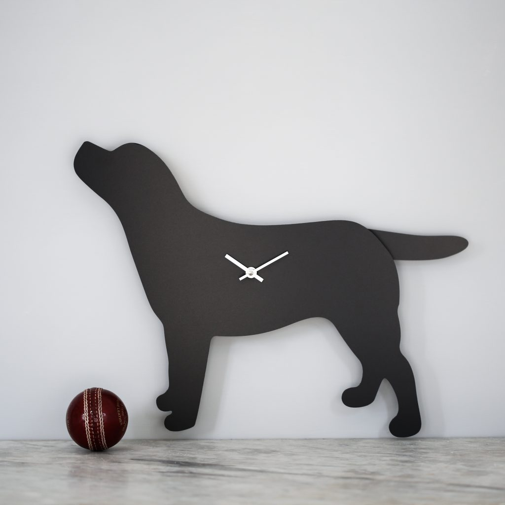 The Labrador Co.-Labrador Clock - Black 74
