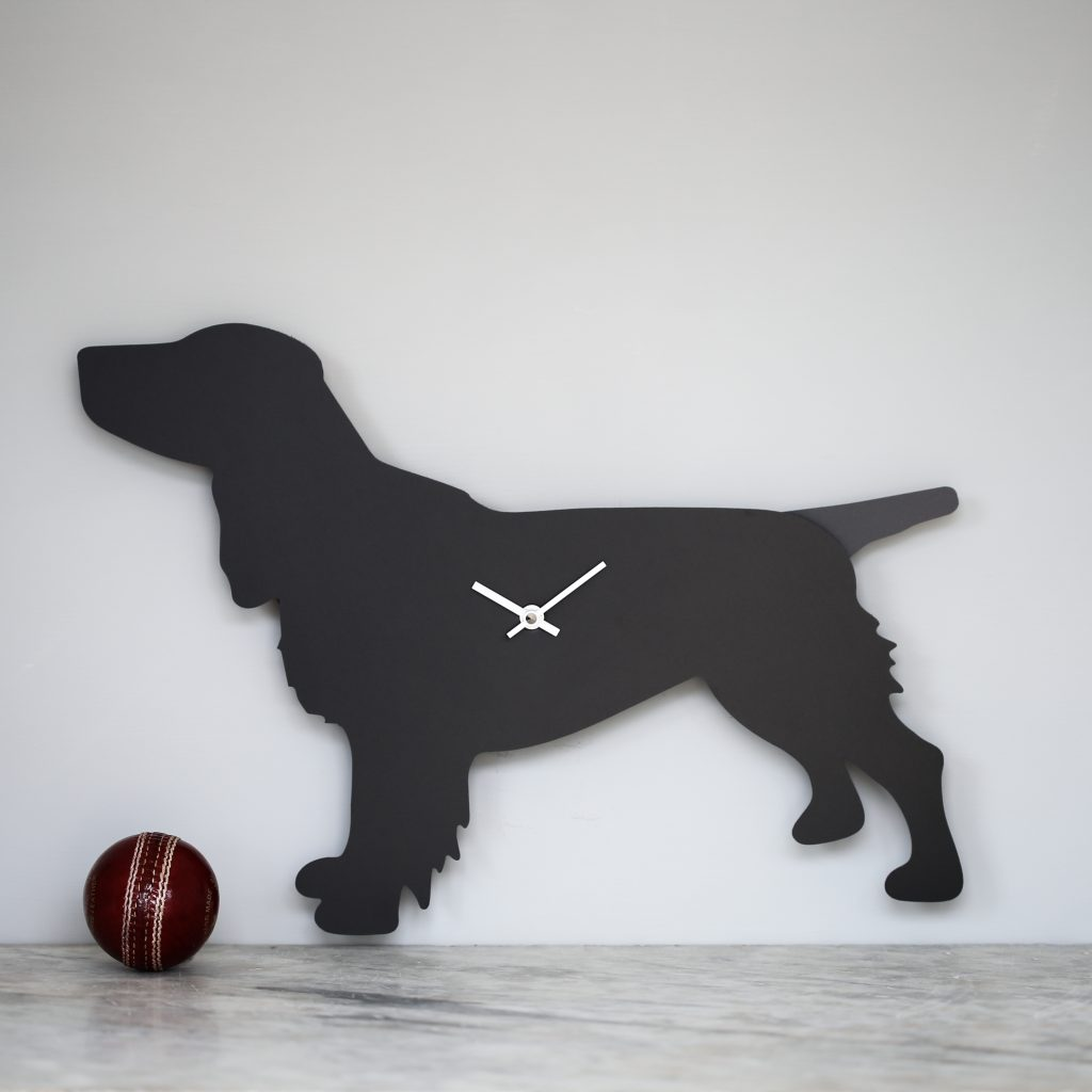 The Labrador Co.-Spaniel Clock - Black