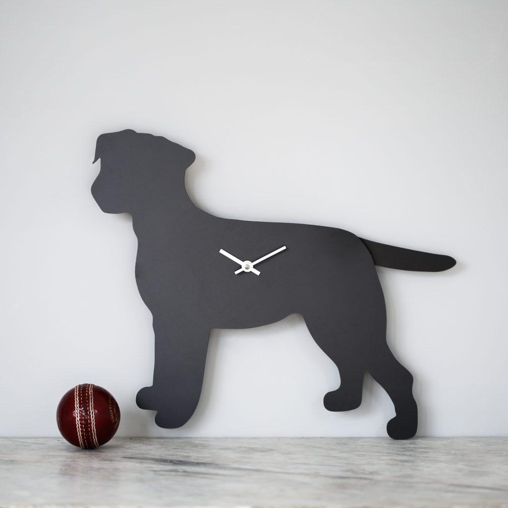 The Labrador Co.-Border Terrier Clock