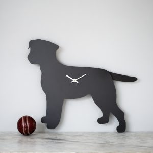 The Labrador Co.-Border Terrier Clock