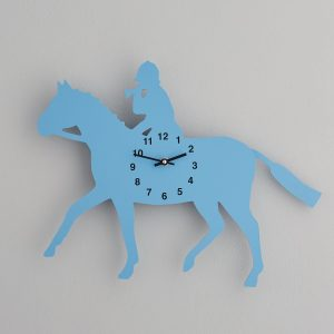 The Labrador Co.-Blue Huntsman  Clock with wagging tail - last one! With Numbers 1