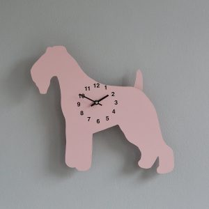 The Labrador Co.-Pink Fox Terrier Clock with wagging tail - last one! 1