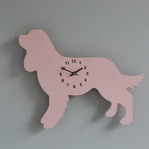The Labrador Co.-Pink King Charles Spaniel Clock with wagging tail - last one!