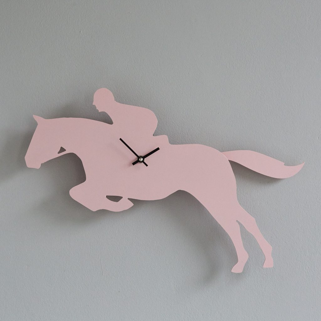 The Labrador Co.-Pink Show Jumper Clock with wagging tail - last one!