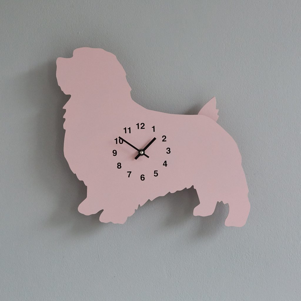 The Labrador Co.-Pink Terrier Clock with wagging tail - last one! 1